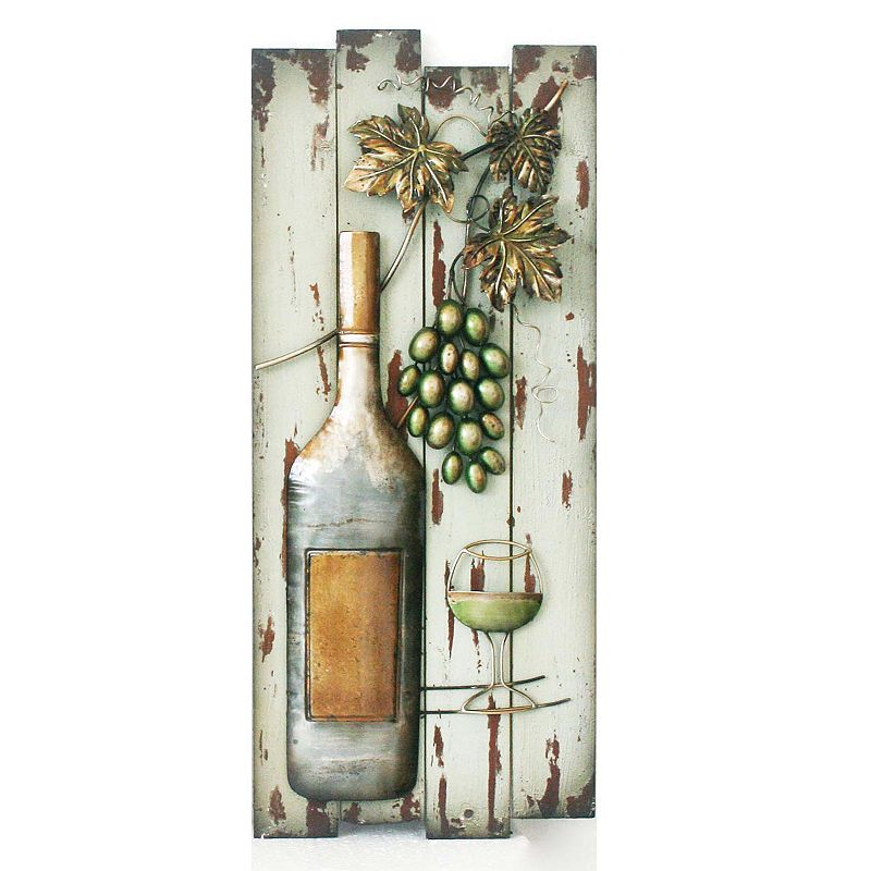 Wine & Glass Wall Decor