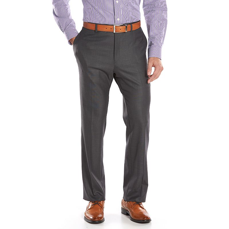 Men's Apt. 9® Slim-Fit Gray Wool-Blend Crosshatch Suit Pants