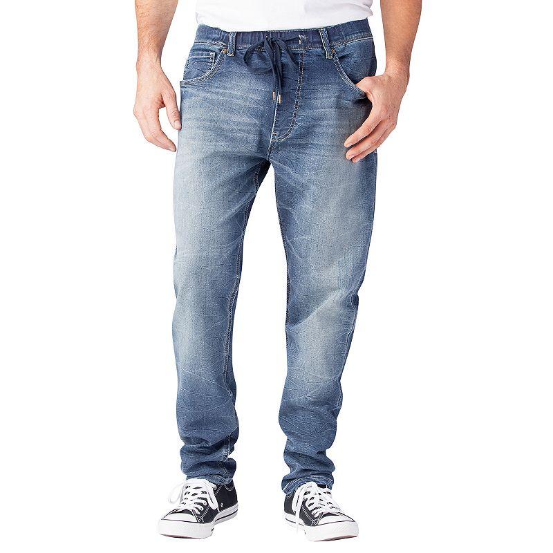 Men's Seven7 Octane Jogger Knit Jeans, Size: 32X32, Dark Blue