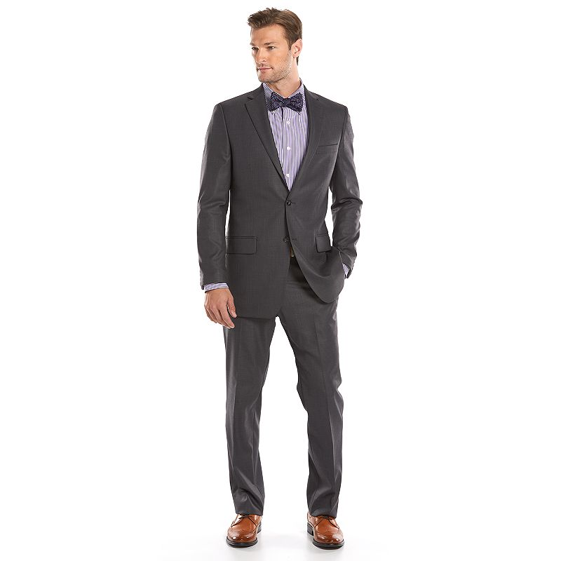 Men's Apt. 9® Slim-Fit Gray Wool-Blend Crosshatch Suit Jacket