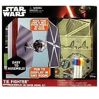 Star Wars: Episode VII The Force Awakens Tie Fighter Design N Display 3D Paper Model Kit