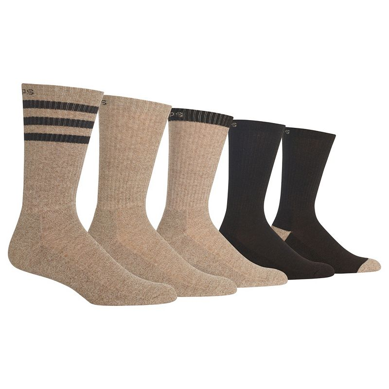Men's GOLDTOE 5-pack Cushioned Striped Crew Socks