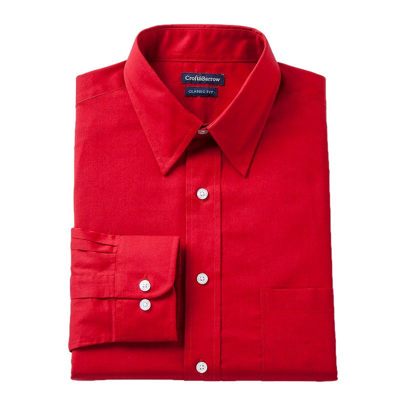 Men's Croft & Barrow® Classic-Fit Solid Dress Shirt - Men