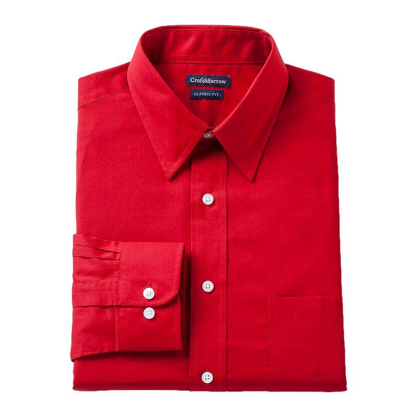 Men's Croft & Barrow® Slim-Fit Solid Dress Shirt - Men