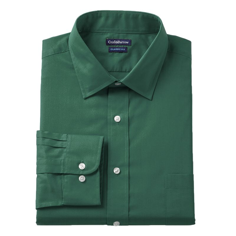 Men's Croft & Barrow® Fitted Solid Dress Shirt