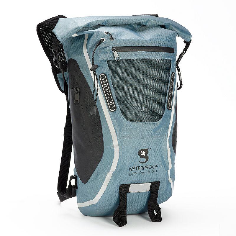 geckobrands 20-Liter Waterproof Dry Bag Backpack