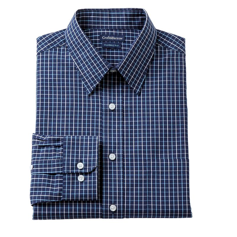 Men's Croft & Barrow® Fitted Tartan Plaid Dress Shirt - Men