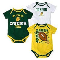 Baby Oregon Ducks 3-Pack Bodysuit Set