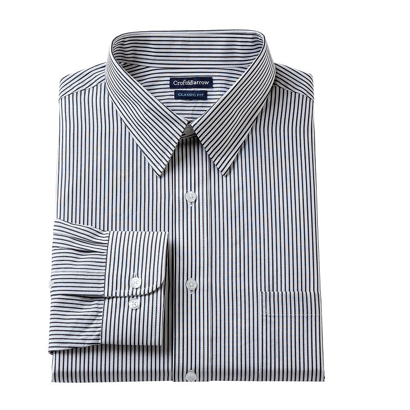 Men's Croft & Barrow® Classic-Fit Ice Striped Dress Shirt - Men
