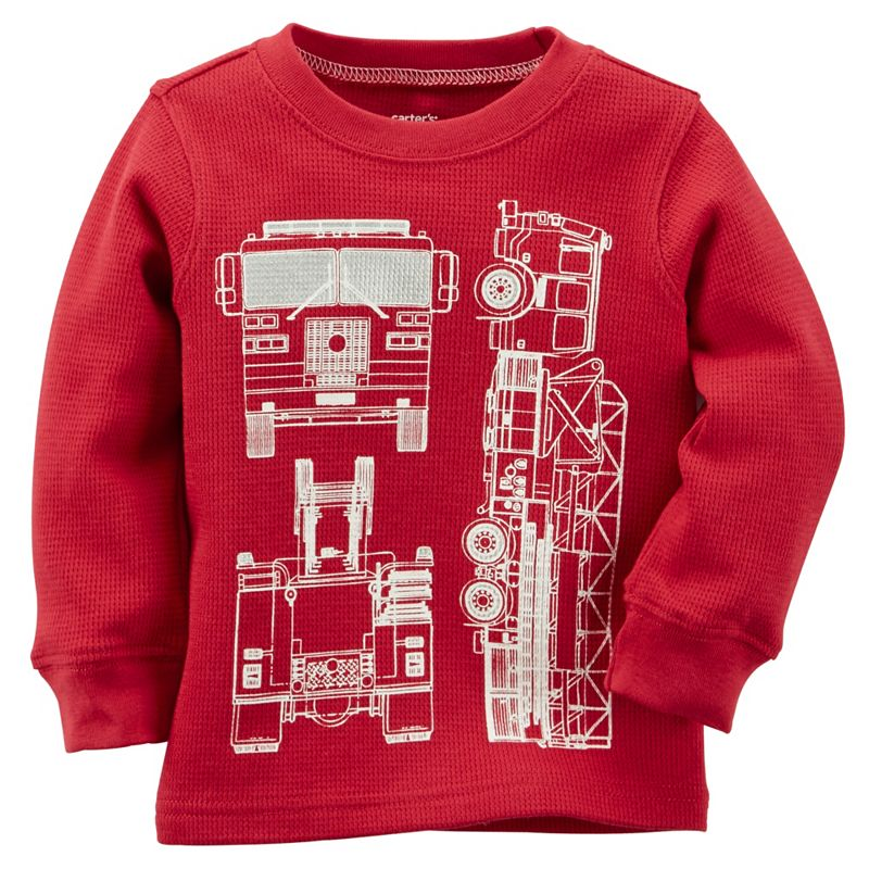 Baby Boy Carter's Firetruck Thermal Tee