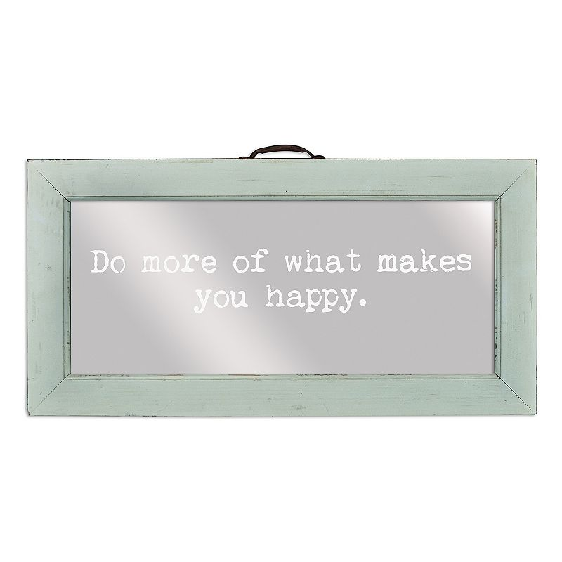 Belle Maison ''Do More of What Makes You Happy'' Framed Mirror Wall Art
