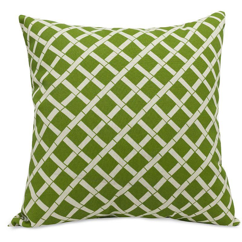 Majestic Home Goods Bamboo Indoor Outdoor Throw Pillow