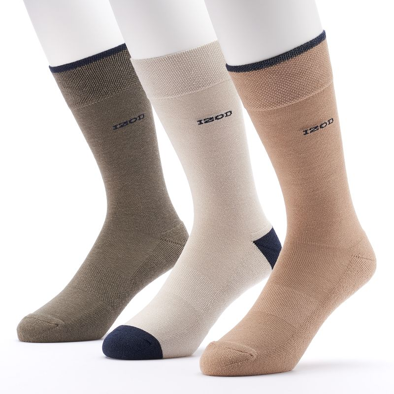 Men's IZOD 3-pack Cushioned Crew Socks