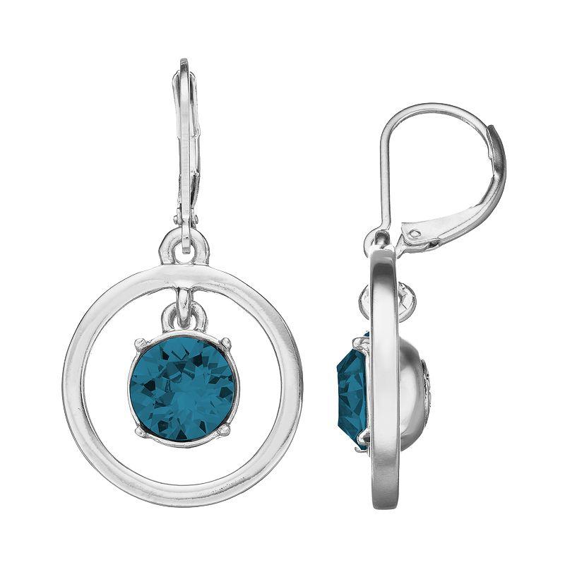 Dana Buchman Orbital Hoop Drop Earrings