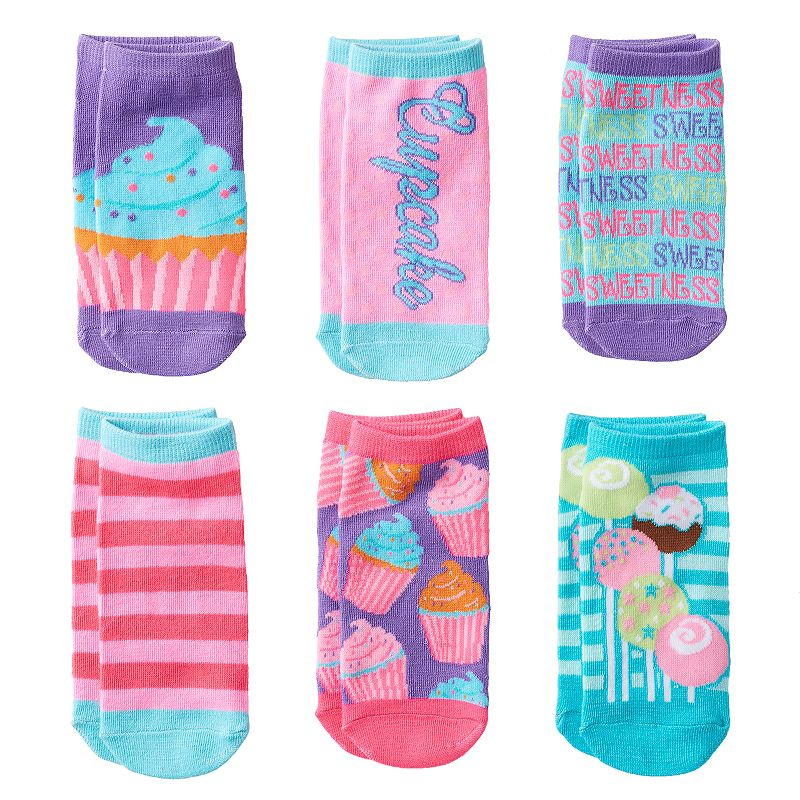 Pink Cookie 6-pk. Cake Pops & Cupcakes No-Show Socks - Girls