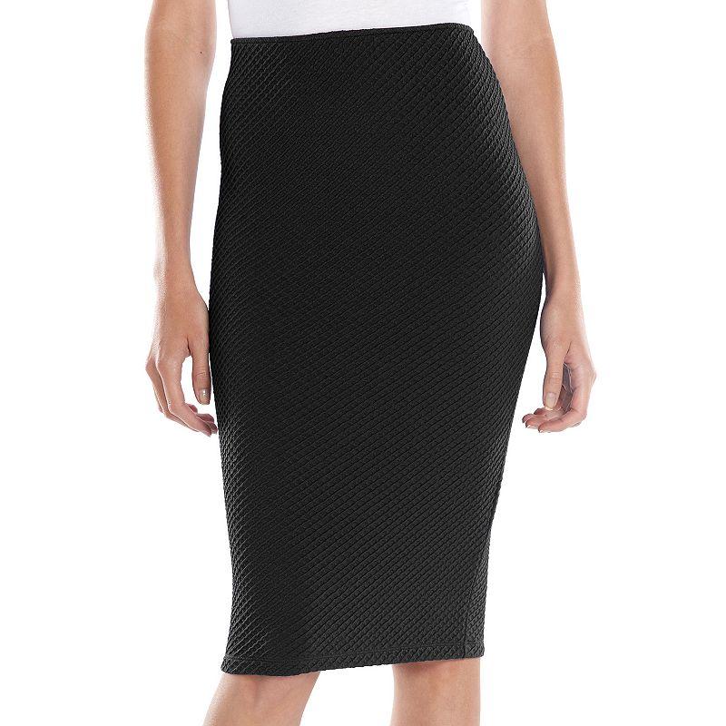 Apt. 9® Textured Midi Pencil Skirt - Women's