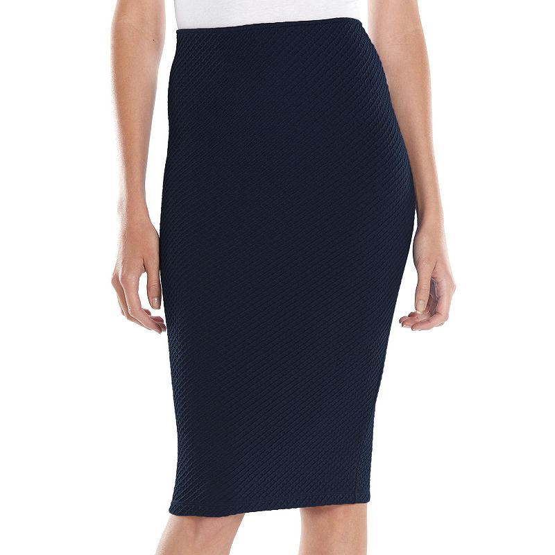 Apt. 9® Textured Midi Pencil Skirt - Women's
