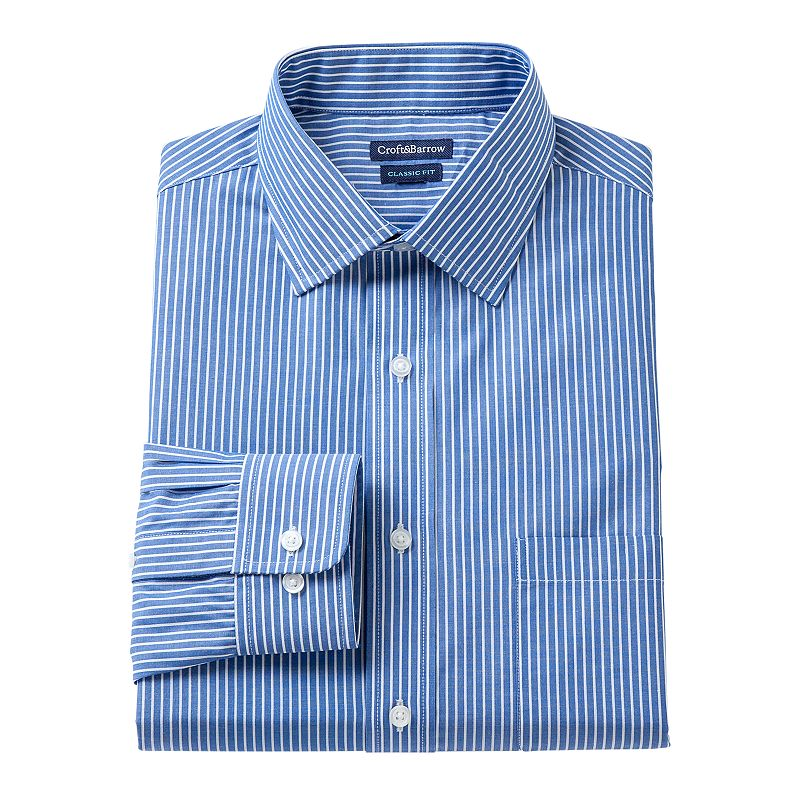 Men's Croft & Barrow Fitted Striped Dress Shirt