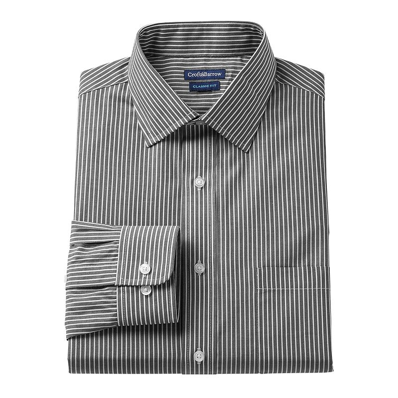 Men's Croft & Barrow® Classic-Fit Striped Dress Shirt - Men