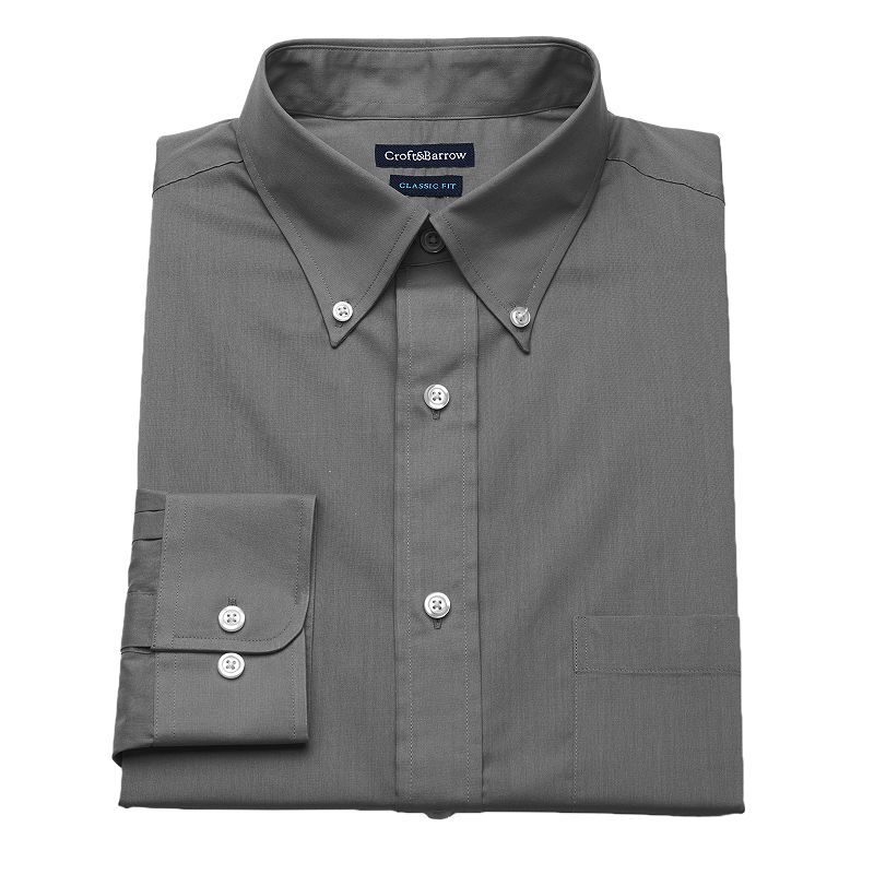 Men's Croft & Barrow® Classic-Fit Button-Down Collar Dress Shirt - Men