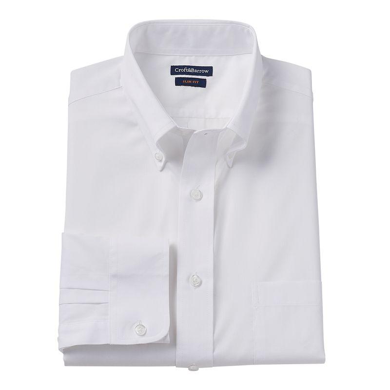 Men's Croft & Barrow® Fitted Button-Down Collar Dress Shirt - Men