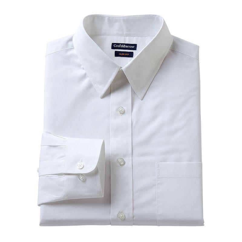 Men's Croft & Barrow Classic-Fit Solid Dress Shirt