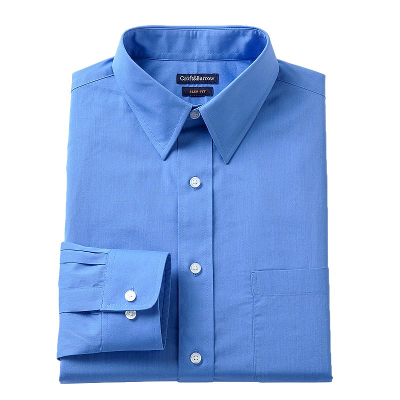 Men's Croft & Barrow Fitted Solid Dress Shirt