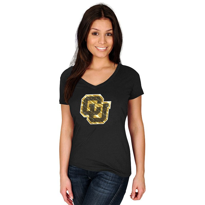 Women's Section 101 by Majestic Colorado Buffaloes Commanding Lead Tee