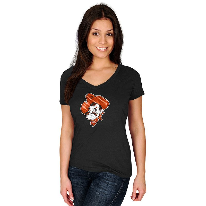Women's Section 101 by Majestic Oklahoma State Cowboys Commanding Lead Tee