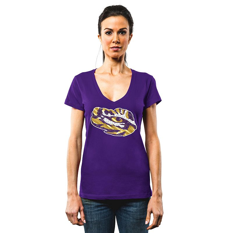 Women's Section 101 by Majestic LSU Tigers Commanding Lead Tee