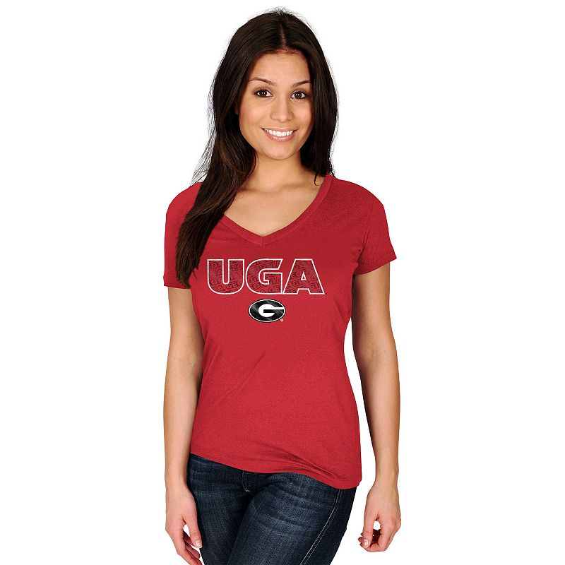 Women's Section 101 by Majestic Georgia Bulldogs Commanding Lead Tee