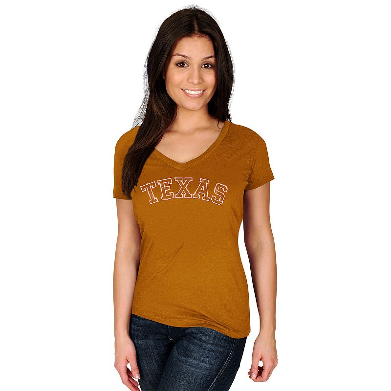 Women's Section 101 by Majestic Texas Longhorns Commanding Lead Tee
