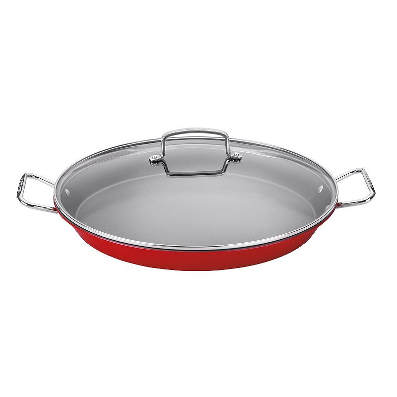 Cuisinart Nonstick 15-in. Covered Paella Pan