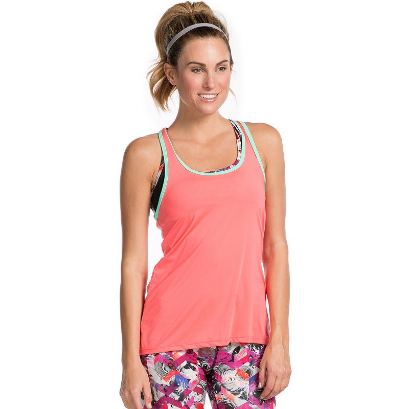 Women's PL Movement by Pink Lotus Racerback Mesh Workout Tank