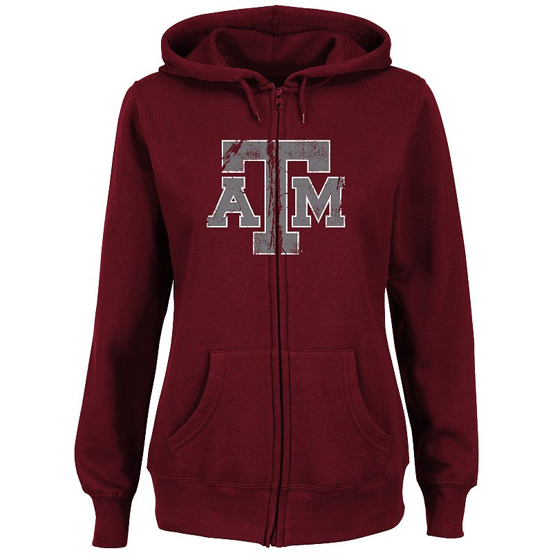 Women's Section 101 by Majestic Texas A&M Aggies Sudden Victory Fleece Hoodie