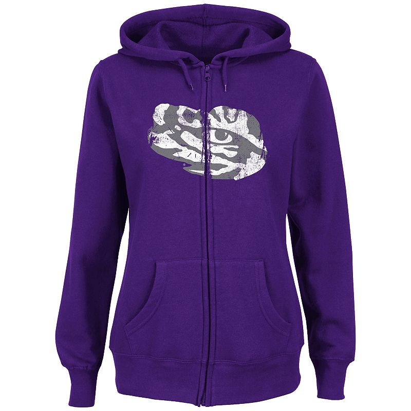 Women's Section 101 by Majestic LSU Tigers Sudden Victory Fleece Hoodie