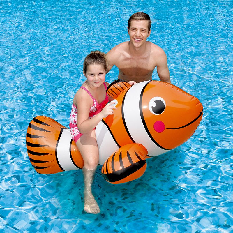 Blue Wave Clown Fish 67-in. Inflatable Ride-On Pool Toy
