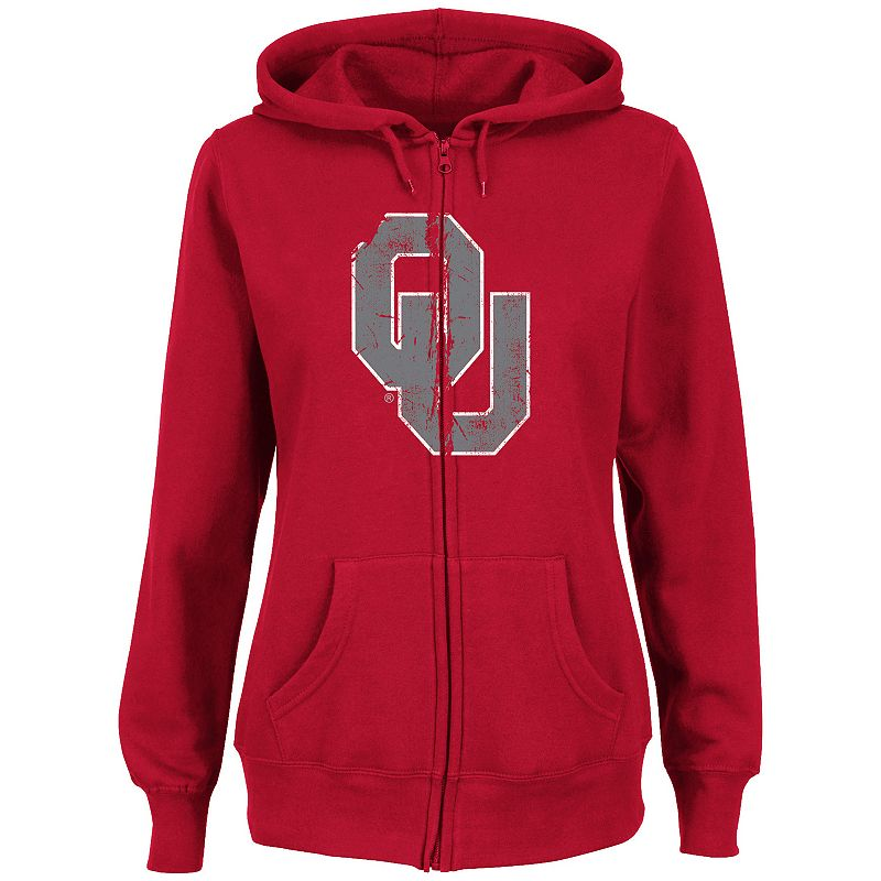 Women's Section 101 by Majestic Oklahoma Sooners Sudden Victory Fleece Hoodie