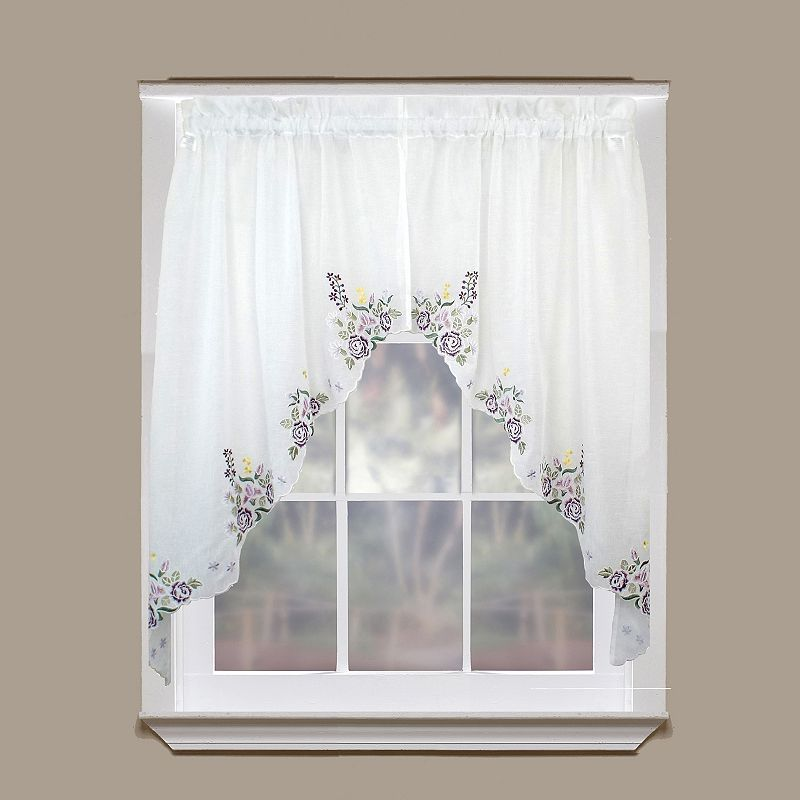 Today 39 S Curtain Isabella Semi Sheer Swag Curtains 60 X