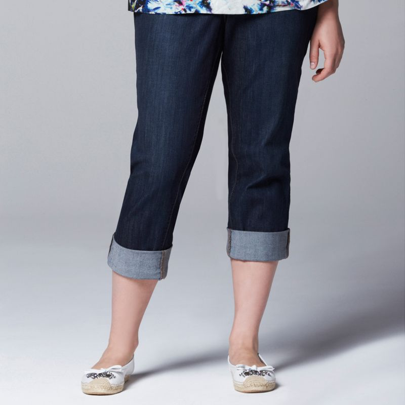 plus size jean capris - Jean Yu Beauty