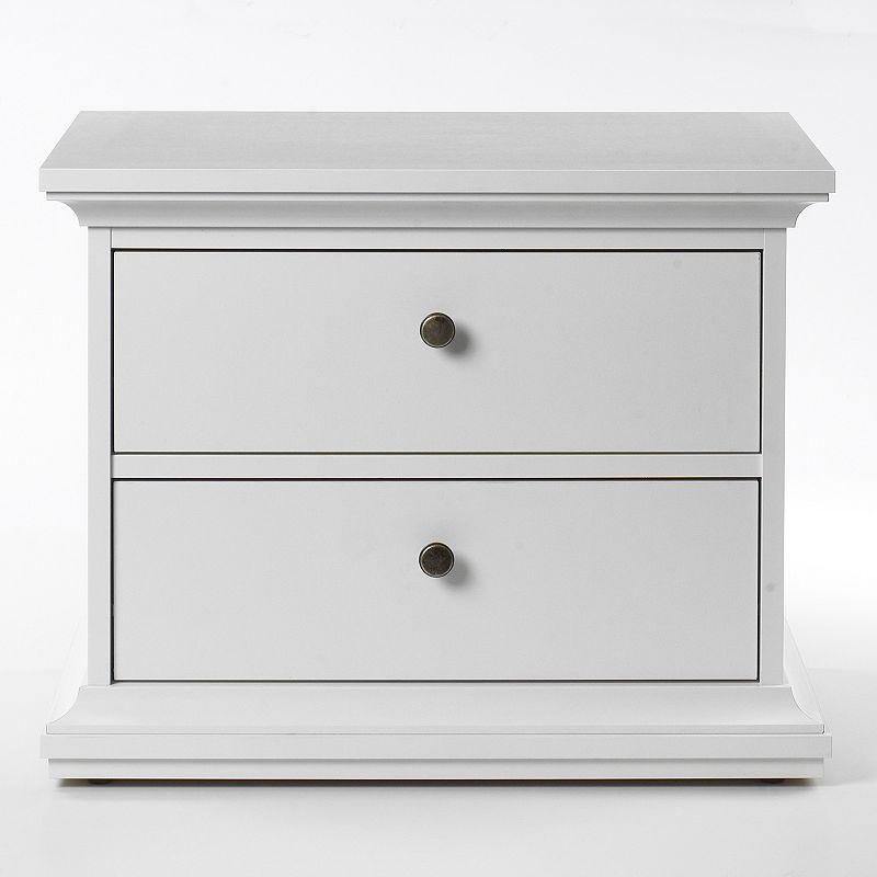 Tvilum Classic 2-Drawer Nightstand, White