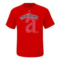 Big & Tall Majestic Los Angeles Angels of Anaheim Cooperstown Collection League Domination Tee