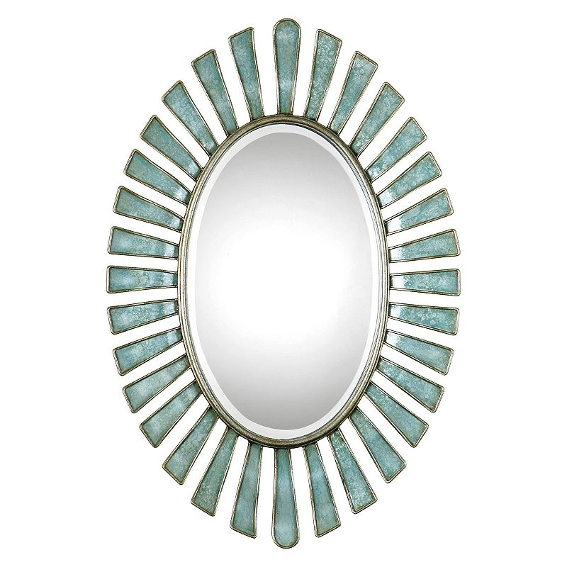 Morvoren Oval Metal Wall Mirror