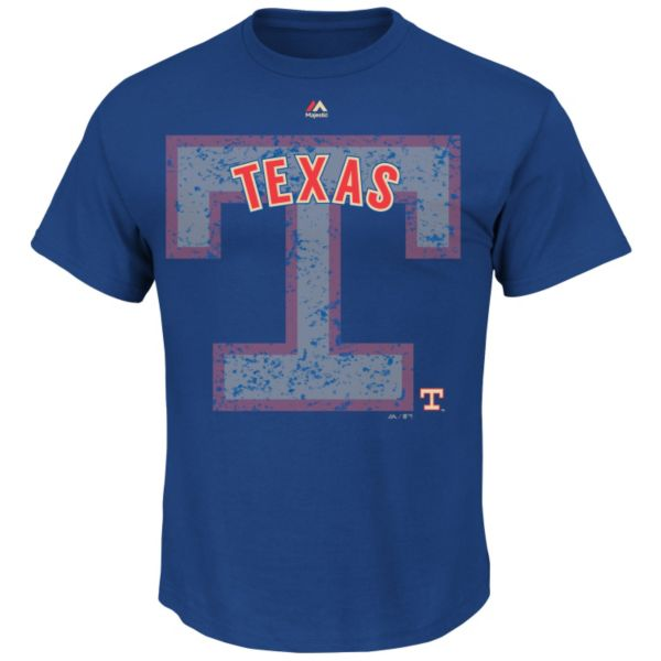 Big & Tall Majestic Texas Rangers Cooperstown Collection League Domination Tee