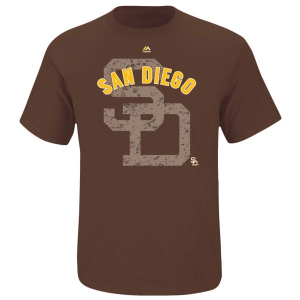 Big & Tall Majestic San Diego Padres Cooperstown Collection League Domination Tee