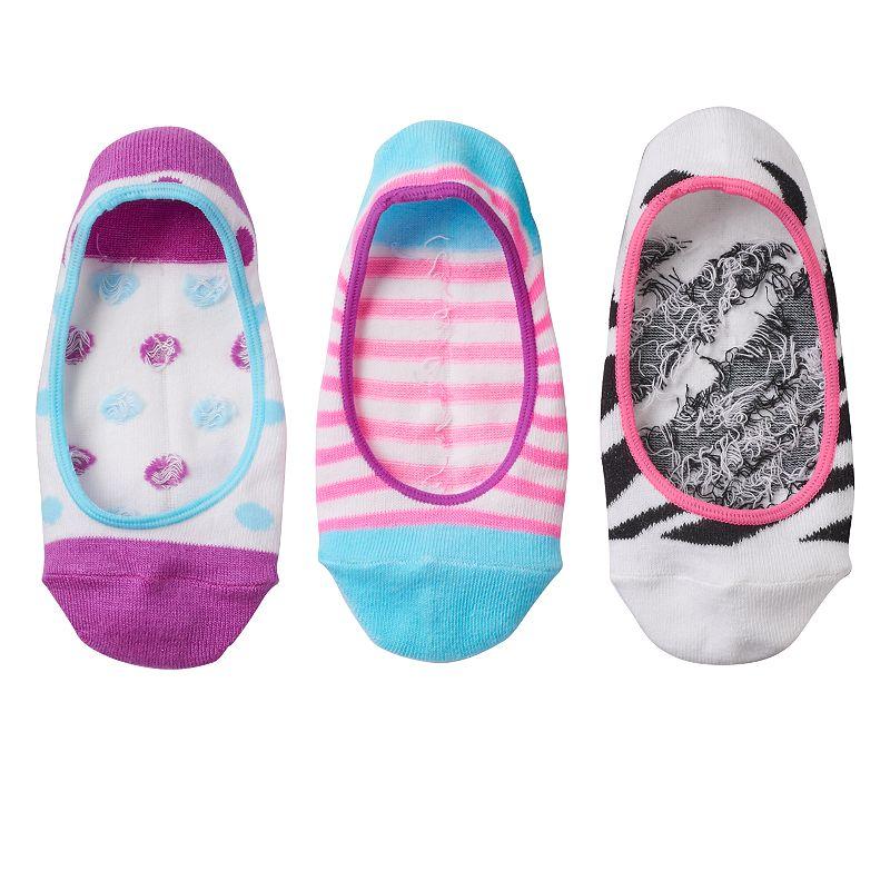 Girls SO® 3-pk. Ultra Low Pattern Socks
