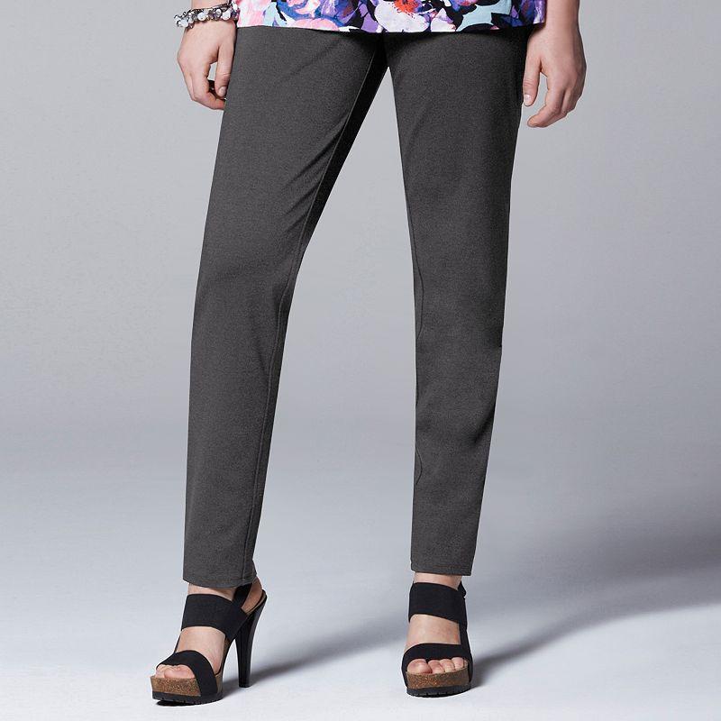 Plus Size Simply Vera Vera Wang Skinny Ponte Pants