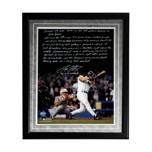 Steiner Sports New York Yankees Tino Martinez 1998 World Series Grand Slam Facsimile 16