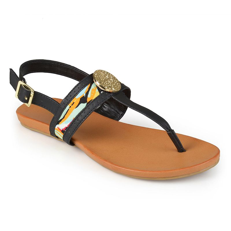 Journee Collection Totem Women's Slingback Thong Sandals