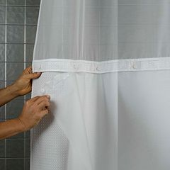 Hookless PEVA Shower Curtain Liner by